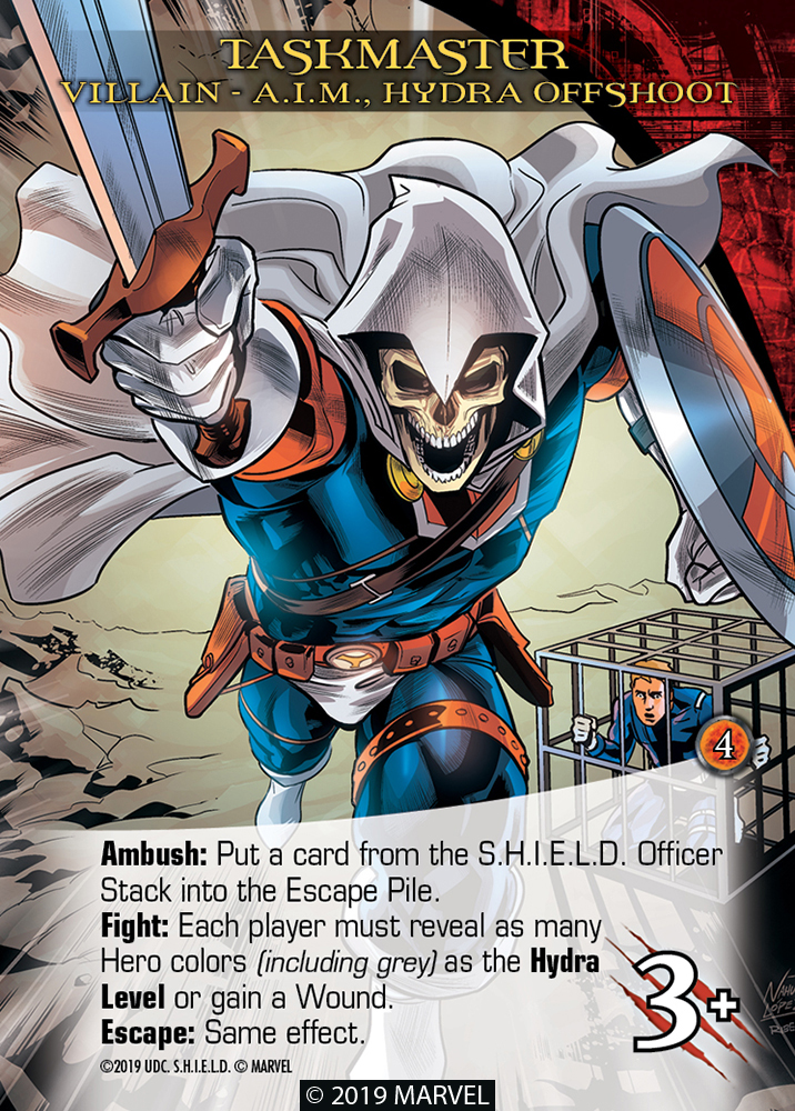 Legendary Shield Villain Taskmaster A.I.M. Hydra Offshoot