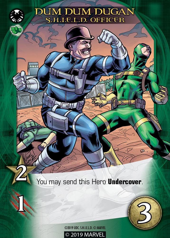 Legendary SHIELD Hero DUM DUM DUGAN SH.I.E.L.D. Officer
