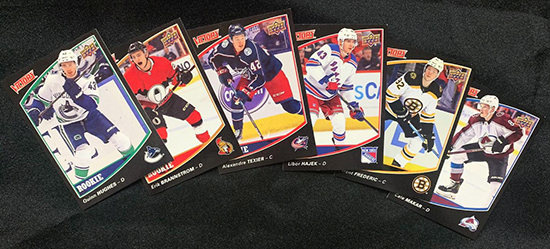 upper deck victory black nhl rookie cards