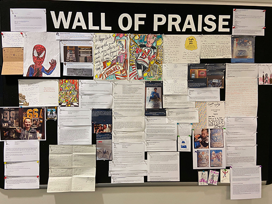 upper deck wall of praise full customer support service engagement experience