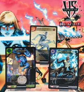 2019-upper-deck-vs-system-2pcg-marvel-league-play-organized-iceman-storm-beast-laboratory-new-mutants-magik-promo-card-playmat