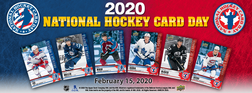 2020 National Hockey Card Day Banner