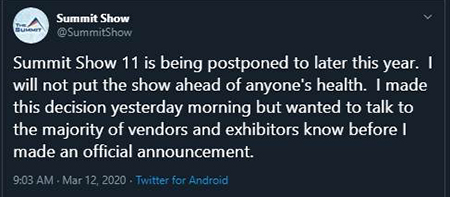 summit show cancellation